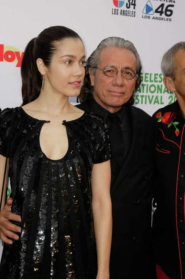 Edward James Olmos, 65, with third wife, Lymari Nadal, 34.  Photo: Noel Vasquez, Getty Images / 2010 Getty Images