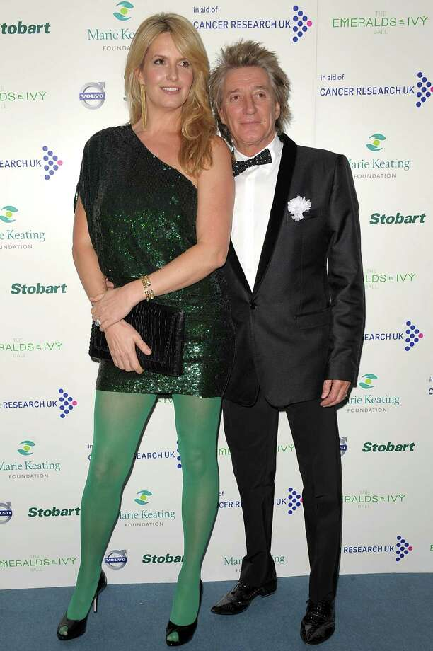 Rod Stewart, 67, and wife Penny Lancaster, 41.  Photo: Ben Pruchnie, Getty Images / 2011 Getty Images