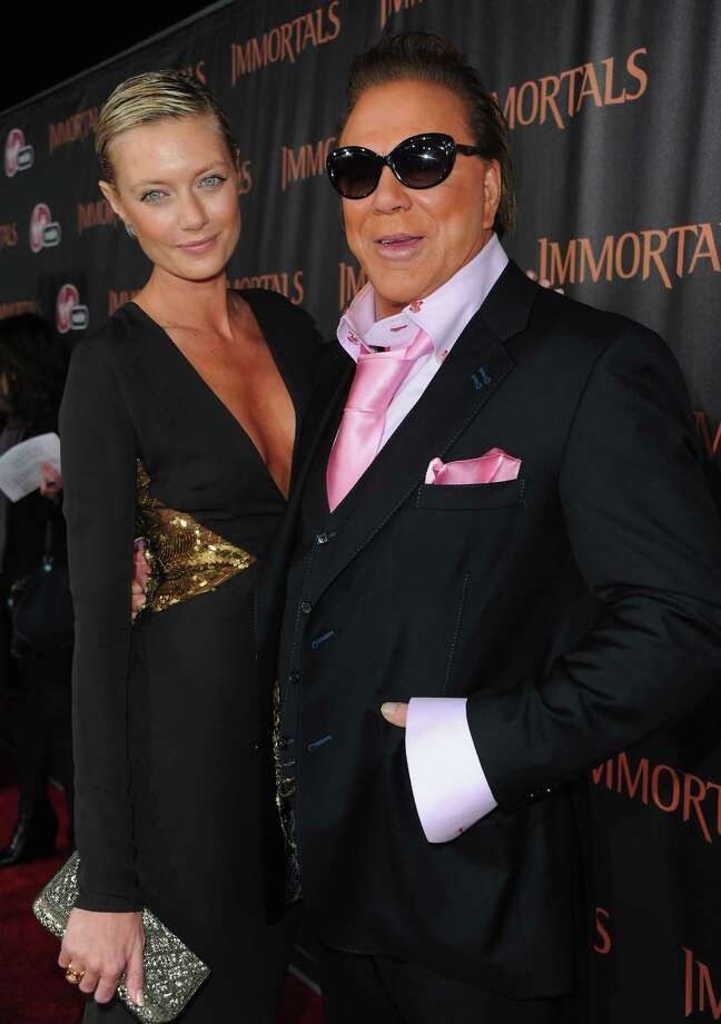 Mickey Rourke, 60, and Russian model girlfriend Anastassija Makarenko, 25.  Photo: Alberto E. Rodriguez, Getty Images / 2011 Getty Images