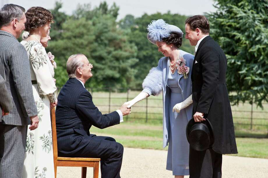 Nicola Dove/Focus Features  (l to r) Bill Murray as FDR, Olivia Colman as Elizabeth and Samuel West as Bertie in Roger Michell's historical tale Hyde Park On Hudson, a Focus Features release. Photo: Nicola Dove / ©Focus Features