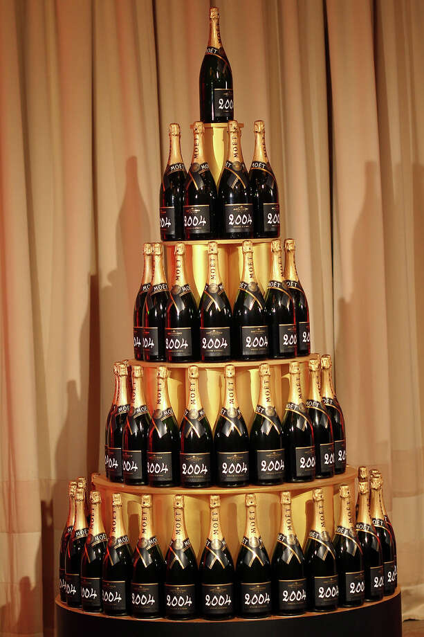 Bottles of Moet 2004 Grand Vintage Brut Champagne Photo: Matt Sayles/Invision/AP