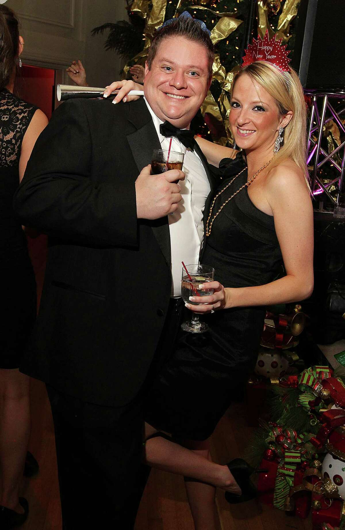 Troy, NY - December 31, 2012 - (Photo by Joe Putrock/Special to the Times Union) - Bill Anderson(left) and Amanda Traver(right) during the 8th Annual Last Night New Year?s Eve Gala to benefit St. Peter?s Hospital Foundation.