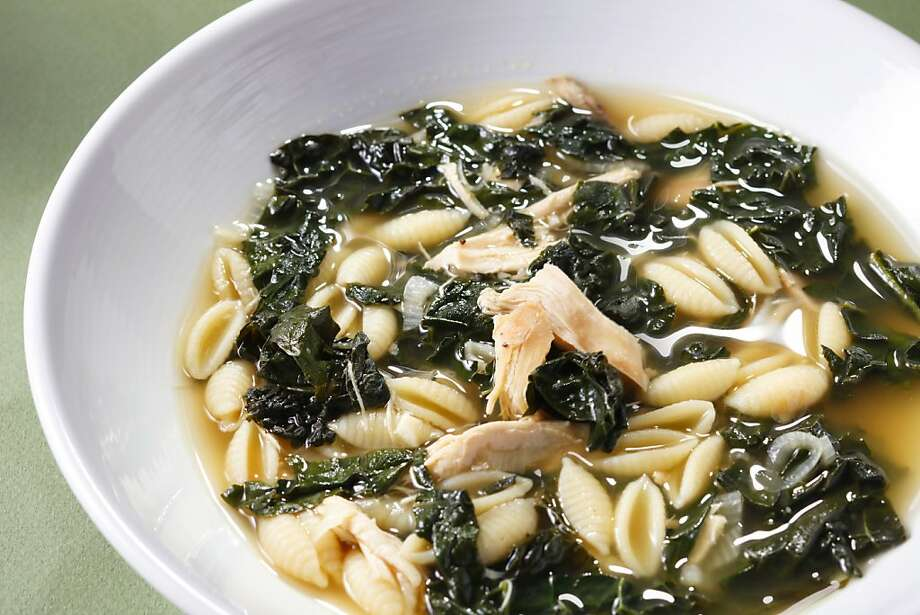 Chicken Noodle Soup With Kale Photo: Craig Lee, Special To The Chronicle