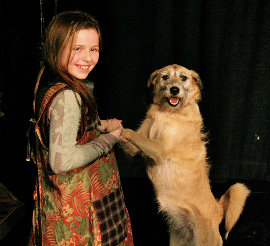 "Music Theatre of Connecticut School of Performing Arts' production of ""Annie"" features Georgia Wright of Westport as Annie with Sandy. Performances will take place at 3 p.m. Saturday, Jan. 12, and Sunday, Jan. 13, at Westport Country Playhouse. Photo: Contributed Photo"