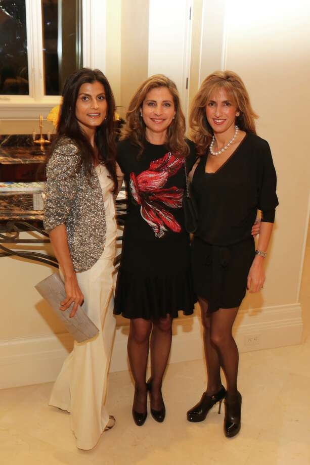 Sabiha Rehmatulla, from left, Rania Daniel and Sima Ladjevardian at the kickoff party for the MFAH's Arts of the Islamic World Gala. Photo: Priscilla Dickson