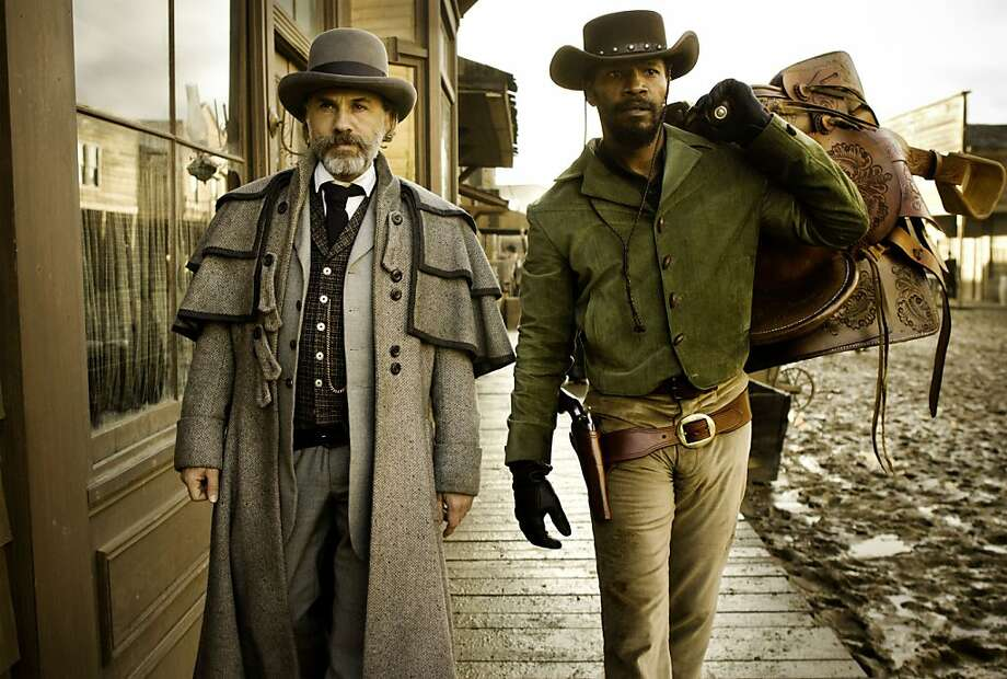 "Christoph Waltz (left) and Jamie Foxx star in ""Django Unchained,"" which, along with ""Lincoln,"" frames the legal constructs that propped up slavery. Photo: Andrew Cooper SMPSP, Associated Press"
