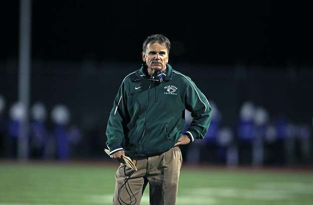 Bob Ladouceur has 399 wins since becoming De La Salle's head football coach in 1979. Photo: Lance Iversen, The Chronicle