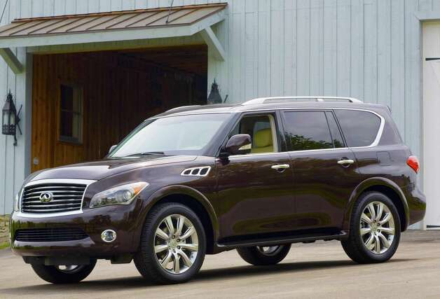 The 2013 Infiniti QX56 is a premium family hauler with lots of power, a smooth ride and a long list of available high-tech features. Photo: Infinti, Nissan North America / Copyright 2012
