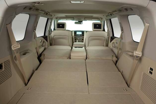 "The 2013 Infiniti QX56 is a premium family hauler offers ""cavernous"" space with the third seat folded. Photo: Nissan North America"