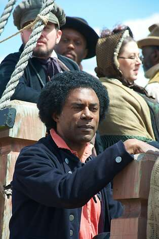 "Richard Brooks stars as escaped slave and orator Frederick Douglass in ""The Abolitionists."" Photo: Antony Platt, PBS"