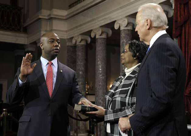 Tim Scott of South Carolina is the first African American senator from the South since Reconstruction. Photo: Cliff Owen, Associated Press