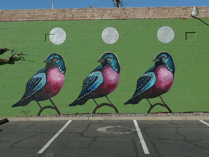 One of a host of murals popping up around downtown Phoenix's relatively new arts district.