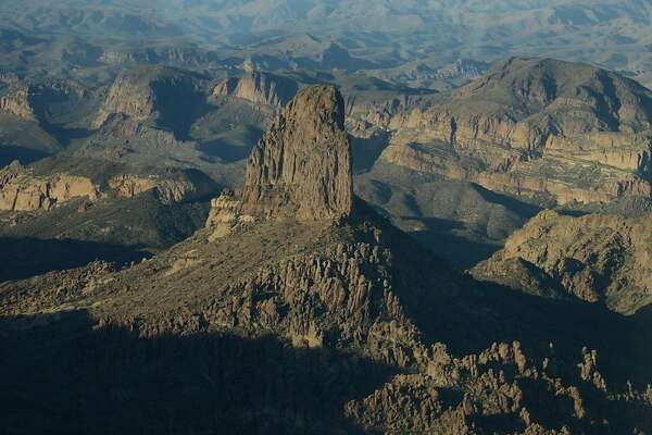 In the Superstition Mountains, Weaver's Needle is thought by many to be the location of the fabled Lost Dutchman Gold Mine.