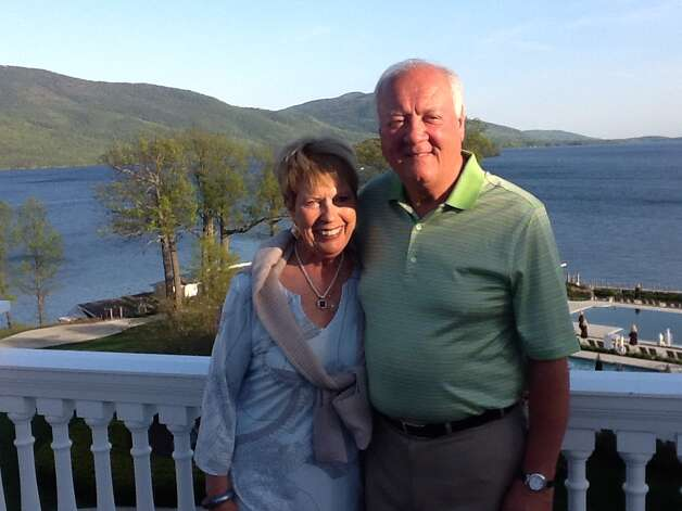 James DiNapoli, and his wife, Christine, during an outing on Lake George in July. The founder of Albany's first business improvement district and a prominent commercial real estate broker, DiNapoli passed away suddenly on New Year's Eve.