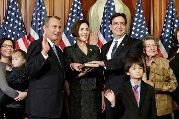 Rep. Pete Gallego, D-Texas, was barely sworn in as a new member of Congress when the National Republican Congressional Committee announced plans to challenge him in 2014. Photo: J. Scott Applewhite, Associated Press / AP