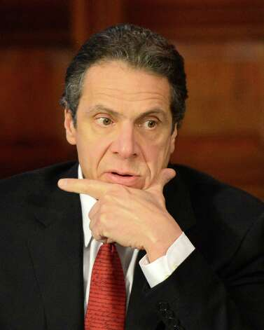 Governor Andrew Cuomo presides over a cabinet meeting held Jan 3, 2013 at the State Capitol in Albany, N.Y.   (Skip Dickstein/Times Union) Photo: SKIP DICKSTEIN