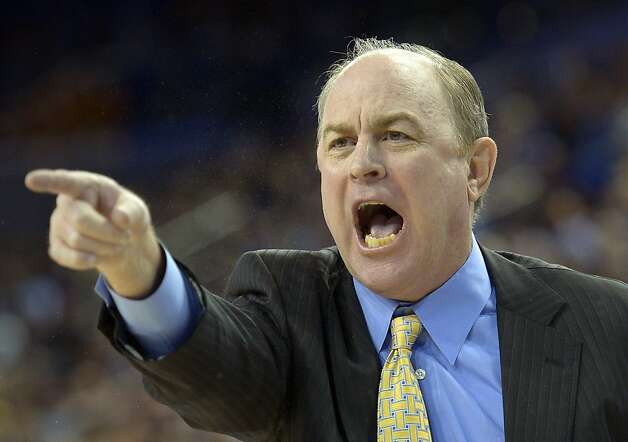 UCLA head coach Ben Howland yells to his team during the first half of their NCAA basketball game against California, Thursday, Jan. 3, 2013, in Los Angeles. (AP Photo/Mark J. Terrill) Photo: Mark J. Terrill, Associated Press
