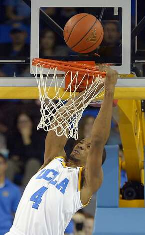 UCLA guard Norman Powell misses a dunk during the first half of their NCAA basketball game against California, Thursday, Jan. 3, 2013, in Los Angeles. (AP Photo/Mark J. Terrill) Photo: Mark J. Terrill, Associated Press