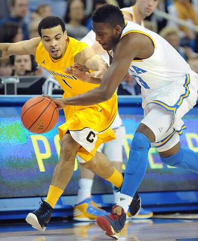 UCLA's Jordan Adams, right, steals the ball away from Cal's Justin Cobbs at Pauley Pavillion in Los Angeles, California, on Thursday, January 3, 2013. (Wally Skalij/Los Angeles Times/MCT) Photo: Wally Skalij, McClatchy-Tribune News Service