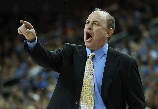 LOS ANGELES, CA - JANUARY 03:  UCLA Bruins head coach Ben Howland yells to his team in the first half against the California Golden Bears at Pauley Pavilion on January 3, 2013 in Los Angeles, California. UCLA defeated Cal 79-65.  (Photo by Jeff Gross/Getty Images) Photo: Jeff Gross, Getty Images