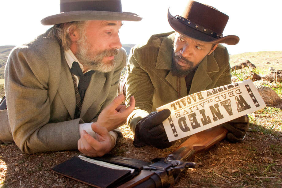 Andrew Cooper/The Weinstein Company CHRISTOPH WALTZ and JAMIE FOXX star in DJANGO UNCHAINED. Mick LaSalle has said this film is appropriately rated R. (© 2012 The Weinstein Company. All Rights Reserved.) Photo: ANDREW COOPER / © 2012 The Weinstein Company. All Rights Reserved.