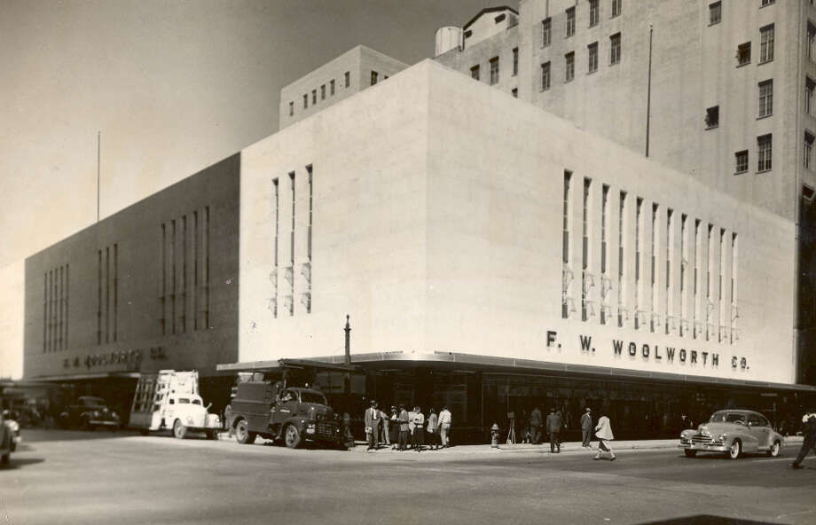 F.W. Woolworth store at Main and McKinney, 1949. (Chronicle file) Photo: UNKNOWN