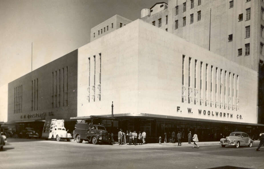 F.W. Woolworth store at Main and McKinney, 1949. (Chronicle file)