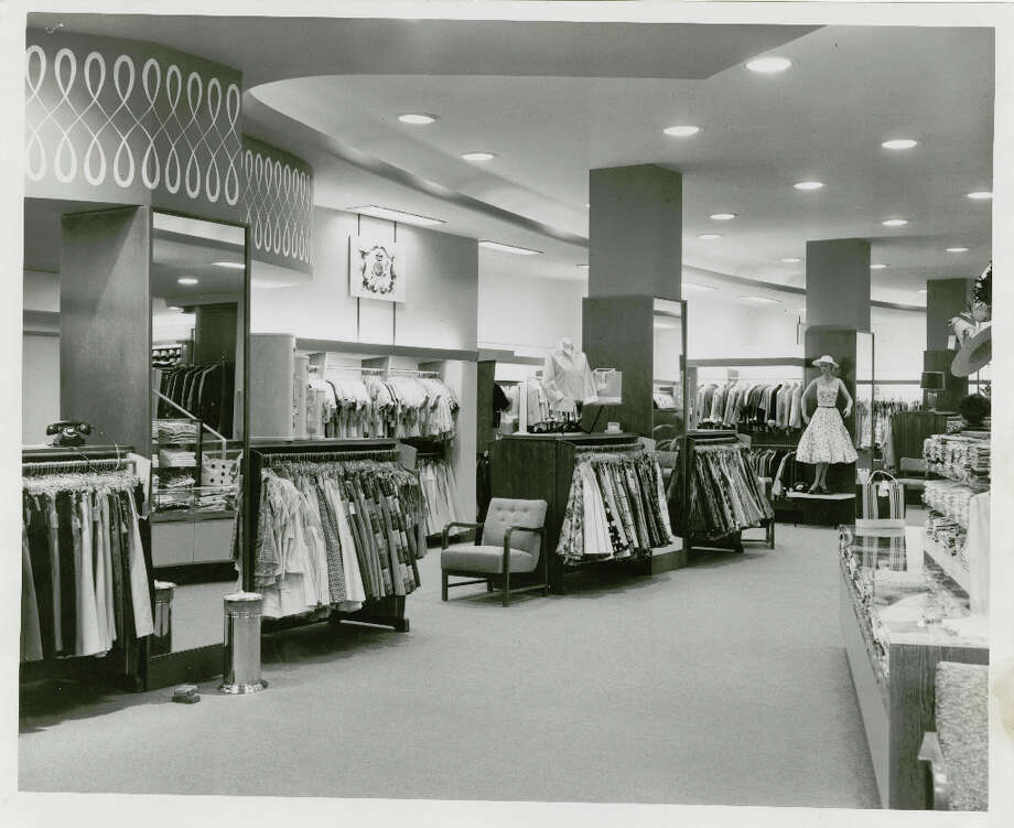 New second floor at Battelstein's downtown store. It's completely contemporary with an air of casualness. May 1955 Photo: Pete Vazquez, Post File