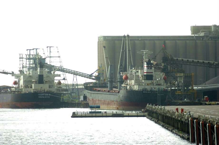 Two ships were moored at the Port of Beaumont. Pete Churton/The Enterprise Photo: Pete Churton / Beaumont