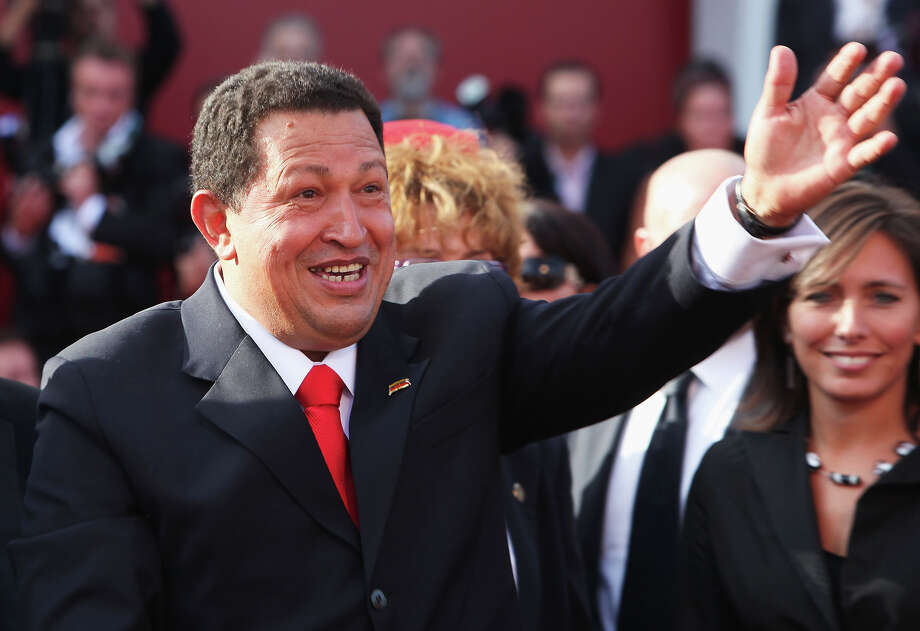 "Venezuela's President Hugo Chavez  attends the ""South Of The Border"" premiere at the Sala Grande during the 66th Venice Film Festival on September 7, 2009 in Venice, Italy. Photo: Dan Kitwood, Getty Images / 2009 Getty Images"
