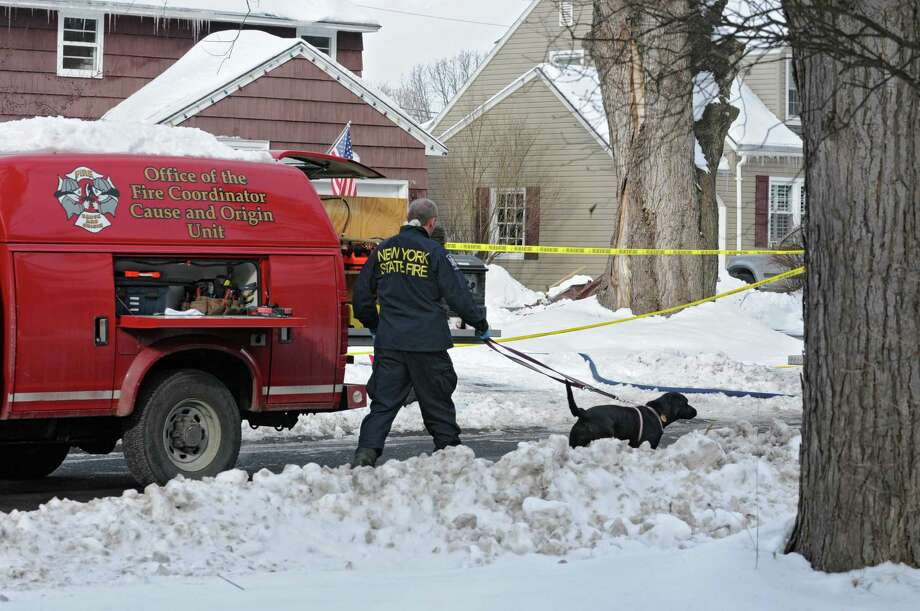 Scene of fatal fire at 2241 Niskayuna Drive, Friday Jan. 4, 2013, in Niskayuna, N.Y.  A teenage girl reportedly died in the fire. (Lori Van Buren / Times Union) Photo: Lori Van Buren