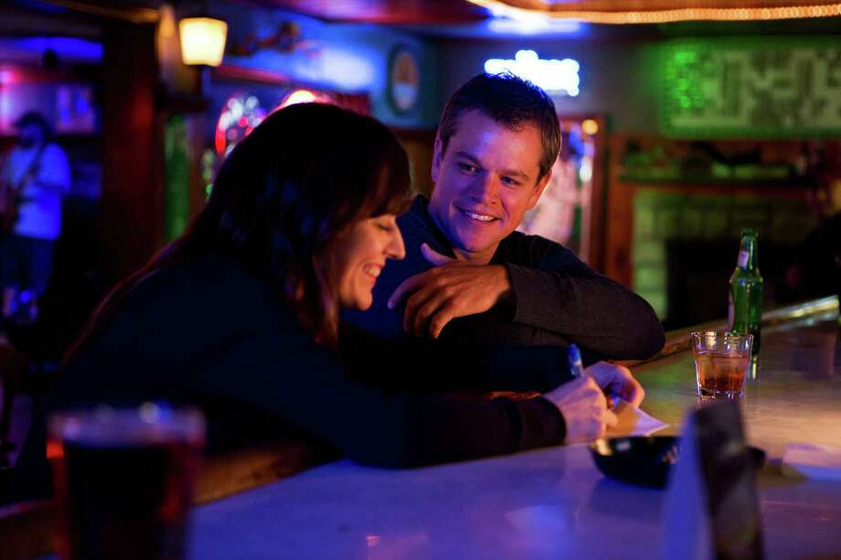 "This undated publicity film image provided by Focus Features shows Rosemarie DeWitt, left, as Alice and Matt Damon, as Steve, in Gus Van Sant's contemporary drama, ""Promised Land, "" a Focus Features release. (AP Photo/Focus Features, Scott Green) Photo: AP, HOEP / Focus Features"