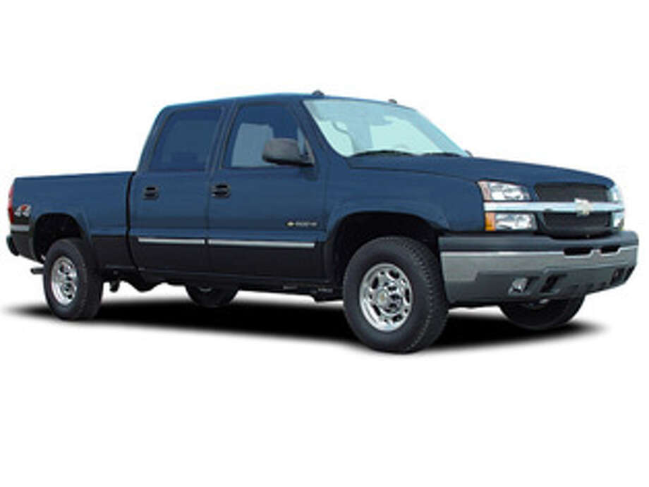 Harris County investigators are looking for a 2005 Chevrolet Silverado involved in a New Year's Day collision that seriously injured a 74-year-old motorist in northwest Harris County. Two men fled the scene and remain at large. Photo: Crime Stoppers Of Houston