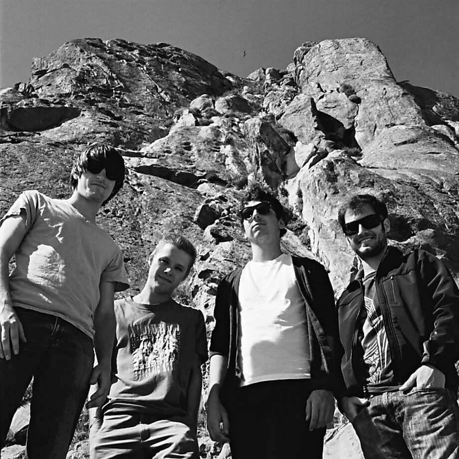 Moonbeams consists of bassist Alvin Fenner (left), guitarist Ryan Haynes, guitarist and vocalist Ryan Lescure and guitarist Sam Hewatt, among others. Photo: Jon Blaj