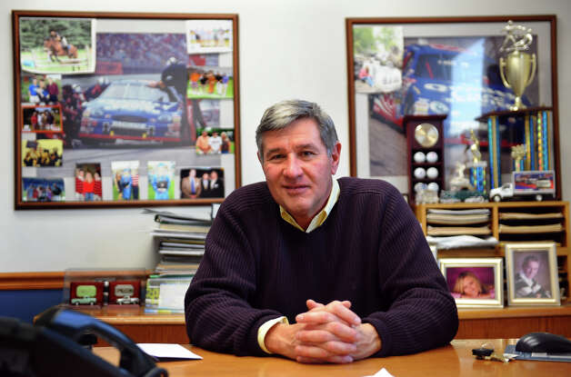 Park City Ford President David J. Flint poses in his office at the dealership in Bridgeport, Conn. on Friday January 4, 2013. American care sales overall in 2012 have seen the best increase in five years. Photo: Christian Abraham / Connecticut Post