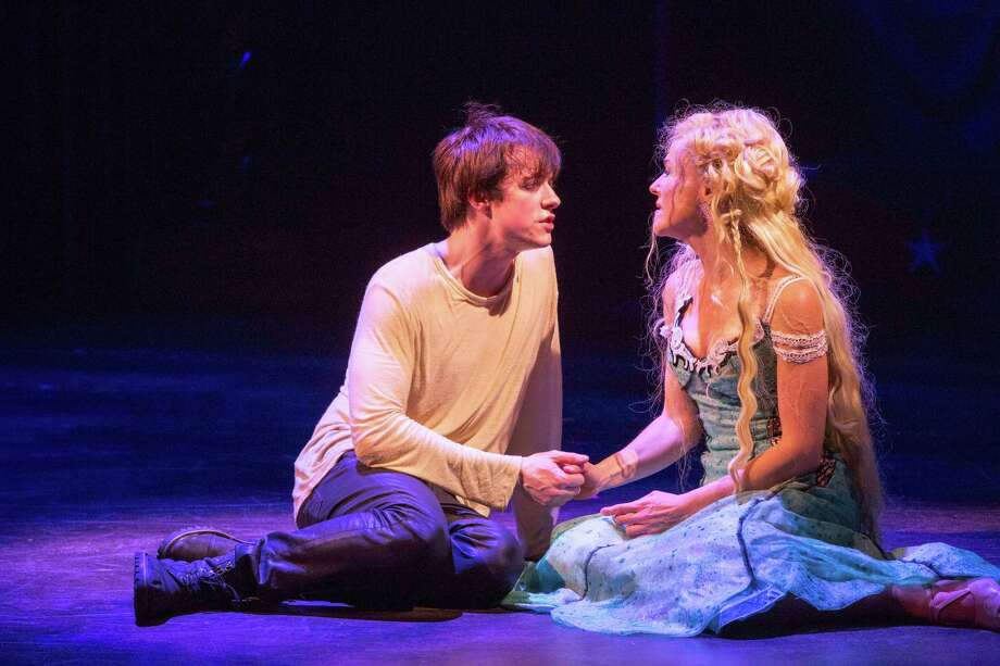 """This undated publicity photo provided by American Repertory Theater shows Matthew James Thomas, left, as Pippin and Rachel Bay Jones as Catherine in a production of """"Pippin,"""" at the American Repertory Theater in Cambridge, Mass. Producers of the Diane Paulus-led revival that is currently playing at the American Repertory Theater outside Boston said late Thursday that """"Pippin"""" will transfer to the Music Box Theatre this spring. Performances begin March 23 with an official opening on April 25. (AP Photo/American Repertory Theater, Michael J. Lutch) Photo: Michael J. Lutch, HOEP / American Repertory Theater"""