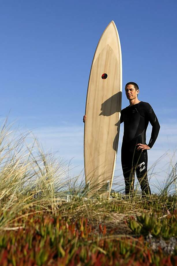 "Jaimal Yogis, author of ""The Fear Project,"" gets ready to tackle the surf - and his fears - at Ocean Beach. Photo: Sean Havey, The Chronicle"