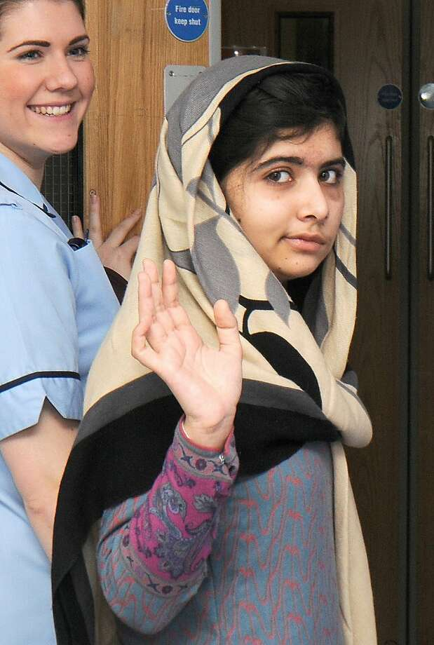 Malala Yousafzai leaves the hospital Thursday. She will be cared for by her family. Photo: -, AFP/Getty Images