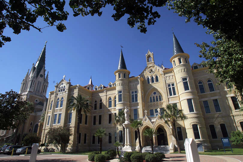 Our Lady of the Lake University Main Building features gothic-style construction and once hou