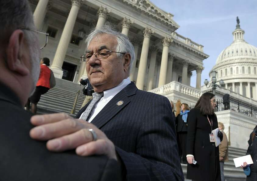 Retiring Rep. Barney Frank, D-Mass. talks on Capitol Hill in Washington, Thursday, Jan. 3, 2013, pri