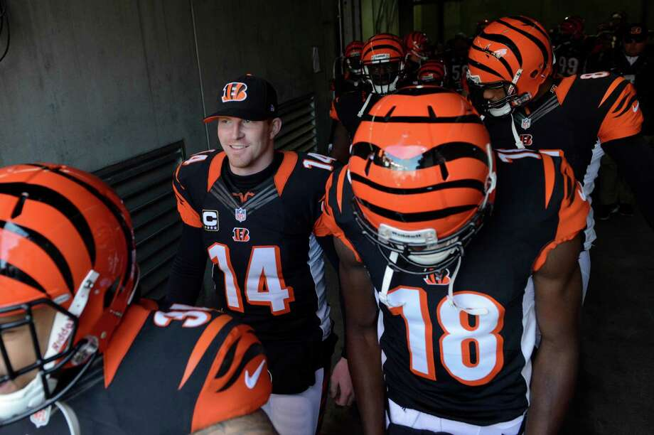 Bengals quarterback Andy Dalton threw for 3,669 yards this season with 27 touchdowns and 16 interceptions. His 47 TD passes in his first two seasons are the third most in NFL history. Photo: Michael Keating, FRE / FR170759 AP