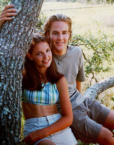 "Katie Holmes, pre-Tom Cruise, as ""Joey Potter"" in ""Dawson's Creek."" With James Van Der Beek.  Photo: COLUMBIA TRISTAR"