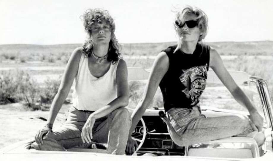 "After ""Pretty Woman"" hit theaters in 1990, ""Thelma & Louise"" came out a year later, as another hit with big roles for actresses. It made movie stars out of Susan Sarandon (left) and Geena Davis.  Photo: File"