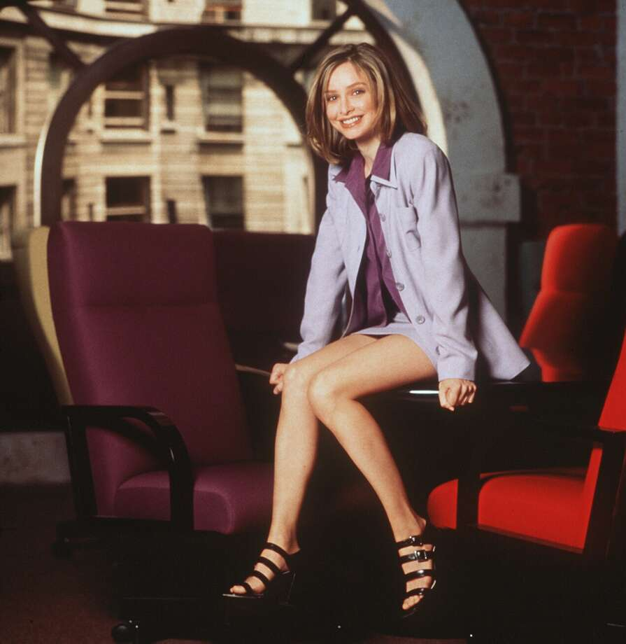 "Calista Flockhart, looking very lawyerly, of course, in ""Ally McBeal.""  Photo: GREG GORMAN / FOX"