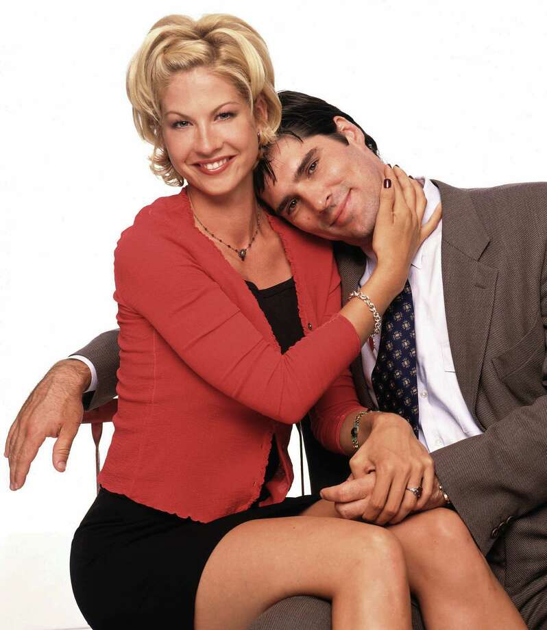 "Sitcoms and dramas dominated TV in the '90s, before reality TV got its stranglehold. There was Jenna Elfman in ""Dharma & Greg.""  Photo: GEORGE LANGE, ABC  / ABC, INC."