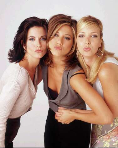 "And of course, there was ""Friends,"" which made these three actresses very, very famous, especially the one in the middle.  Photo: ANDREW ECCLES, NBC  / NBC"