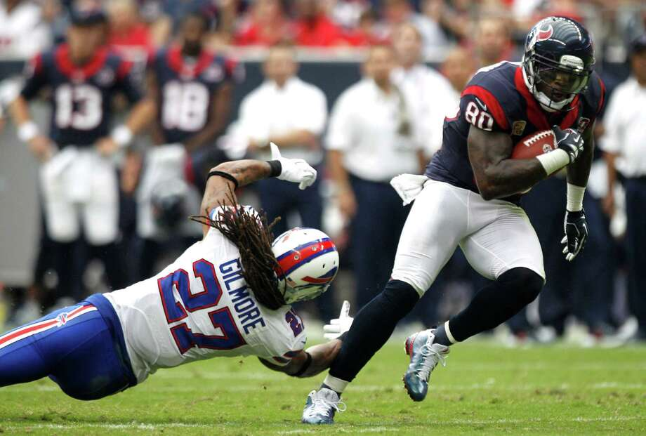 Texans receiver Andre Johnson has left many opponents behind this season, catching 115 passes for a career-high 1,598 yards. He caught 95 passes for 1,315 yards over the last 11 games. Photo: Brett Coomer, Staff / © 2012  Houston Chronicle