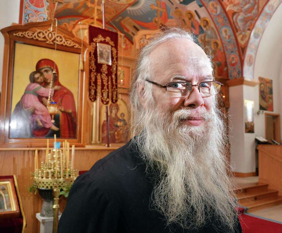 Rector Alexis Duncan ofthe Church of Nativity of the Most Holy Mother of God at the church in Colonie Wednesday Jan. 2, 2012.  (John Carl D'Annibale / Times Union) Photo: John Carl D'Annibale / 00020606A