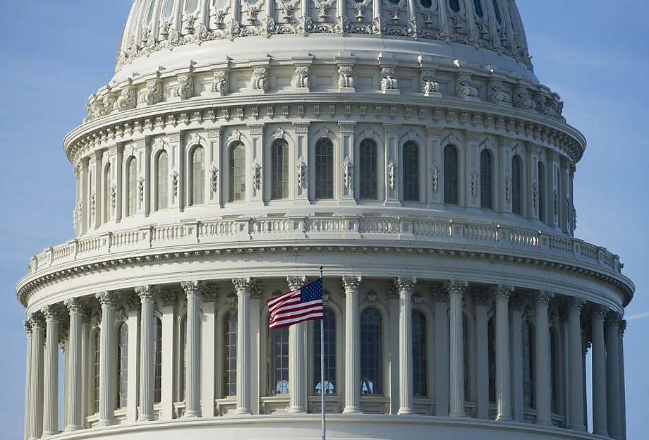 "The US Capitol in Washington, DC, on January 2, 2013, on the day after a compromise bill passed the US Congress, avoiding the ""fiscal cliff."" The agreement raises taxes on the rich and puts off automatic $109 billion federal budget cuts for two months. AFP PHOTO / Saul LOEBSAUL LOEB/AFP/Getty Images Photo: Saul Loeb, AFP/Getty Images"