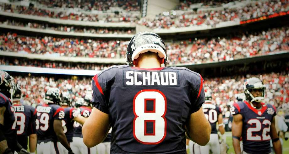"Texans quarterback Matt Schaub is definitely ready for his playoff debut. ""It's an exciting time of year to be a part of this to get ready to play in a playoff game, especially here at home in front of our home fans. I'm definitely looking forward to it."" Photo: Nick De La Torre, Staff / © 2012  Houston Chronicle"